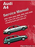 A408 2002-2008 Audi A4 Avant and Quattro Service Manual