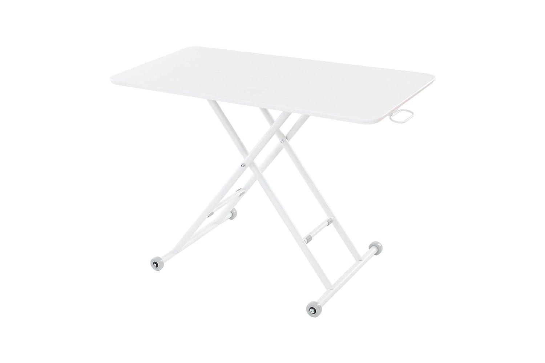 narumikk リフティングテーブル ルイーズ オーク ホワイト (サイズ:100×55×11~70cm) 27-819 B06XRQH5B5