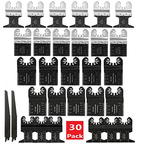 Best Deals! 30 PC Oscillating Saw Blades Multi Tool for Dewalt, Milwaukee, Rockwell, Craftsman, and ...