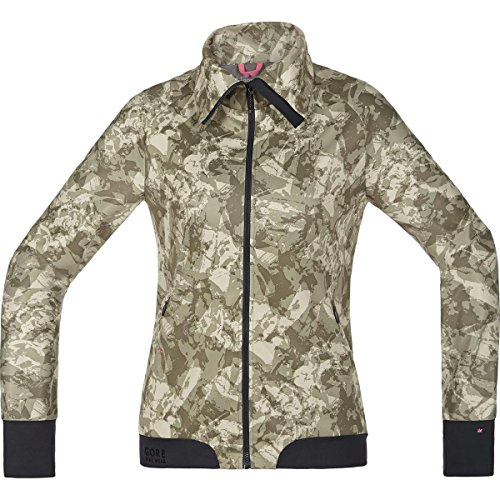 Gore Bike WEAR Women's Warm Soft Shell Mountainbike Jacket, Stretch, Gore Windstopper, Power-Trail Lady Print WS SO Jacket, Size 40, Camouflage, JWSFLP (Gore Bike Wear Power Windstopper Softshell Jersey)