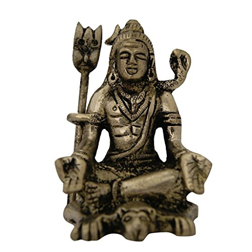 Murti Sculptures - Aaradhi Divya Mantra Hindu God Meditating Shiva With Yoga Mudra Idol Sculpture Statue Murti For Pooja, Meditation, Concentration