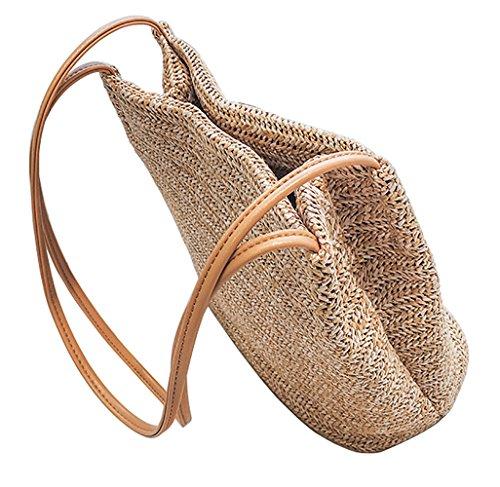 - V-Best Straw Bag Beach Bags And Totes(1 Pack) Women Beach Tote Bag(M,Beige)