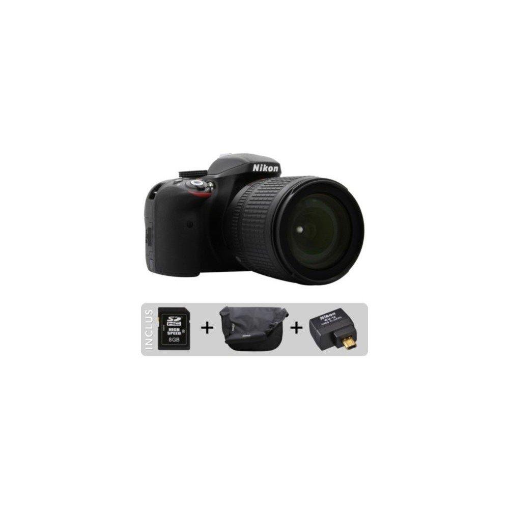 Réflex NIKON D3300 18-105 VR ETU-Pack: Amazon.es: Electrónica