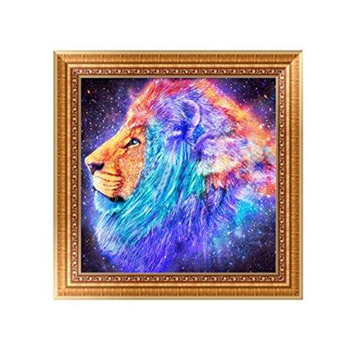 Botrong 5D Animal DIY Diamond Painting Embroidery Cross Craft Stitch Home Decor Art - Half Drill (C:30X30CM/12X12inch)
