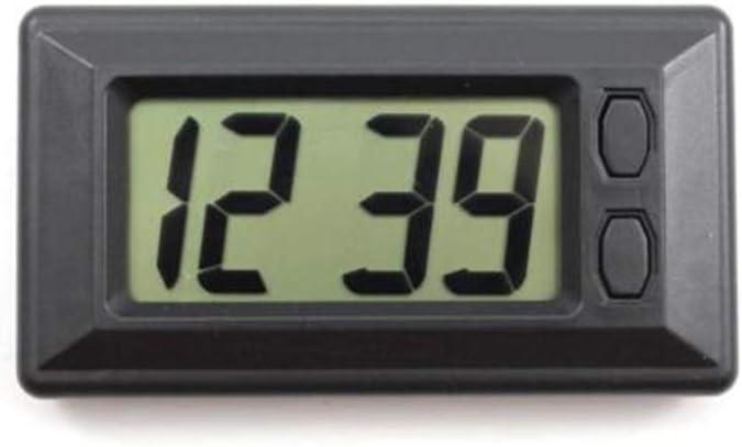 Flushzing Ultra-d/ünne LCD-Digital-Display-Tr/äger-Auto-Armaturenbrett-Zeit-Kalender anzeigen Klebepad Uhr