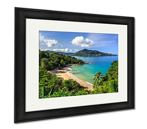 Natural Wood Aqua Liquid (Ashley Framed Prints Laem Sing Beach Phuket Thailand, Office/Home/Kitchen Decor, Color, 30x35 (frame size), Black Frame, AG5889673)