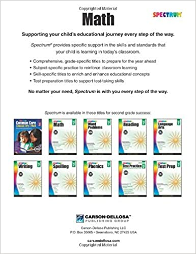 Workbook first grade worksheets pdf : Spectrum Math Workbook, Grade 2: Spectrum: 0044222238537: Amazon ...