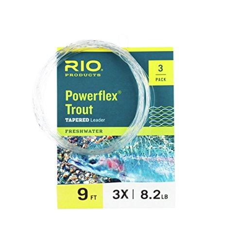 RIO Powerflex Trout Leader - 3 Pack One Color, 4x/9ft
