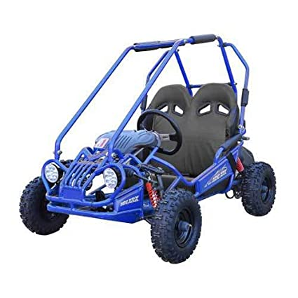 amazon com trailmaster kids go kart xrx mini blue automotive