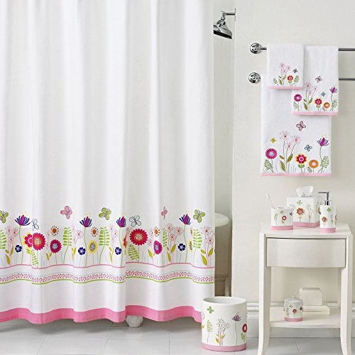 """DS BATH Garden Party Pink Shower Curtain,Mildew Resistant Shower Curtain,Print Shower Curtains for Bathroom,Cute Bathroom Curtains,Waterproof Polyester Fabric Shower Curtain,72"""" W x 72"""" H from DS BATH"""