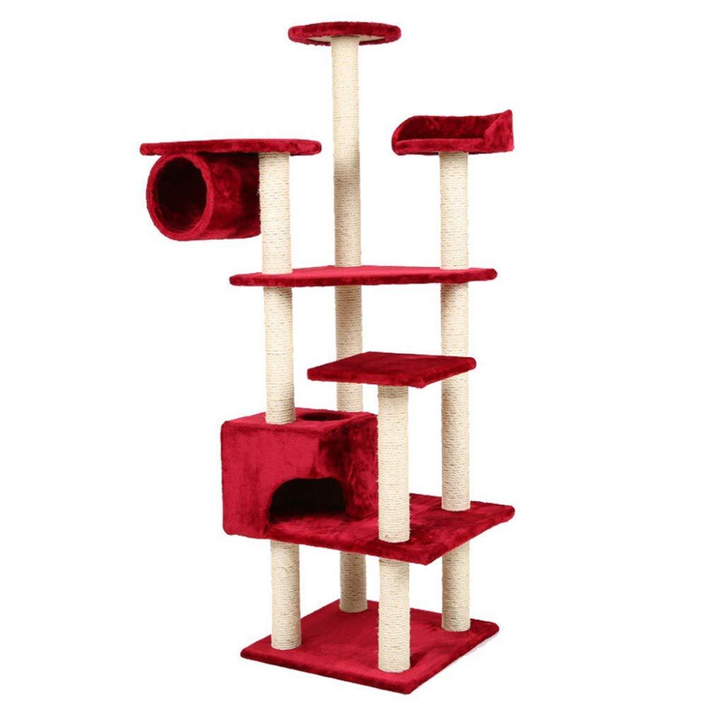 Leizhi Cat Tree, Grande Multi-Strato sisal Graffi Post Climbing Tower Frame, Centro di attività mobili Piattaforma Jump-per Gattini, Animali Domestici