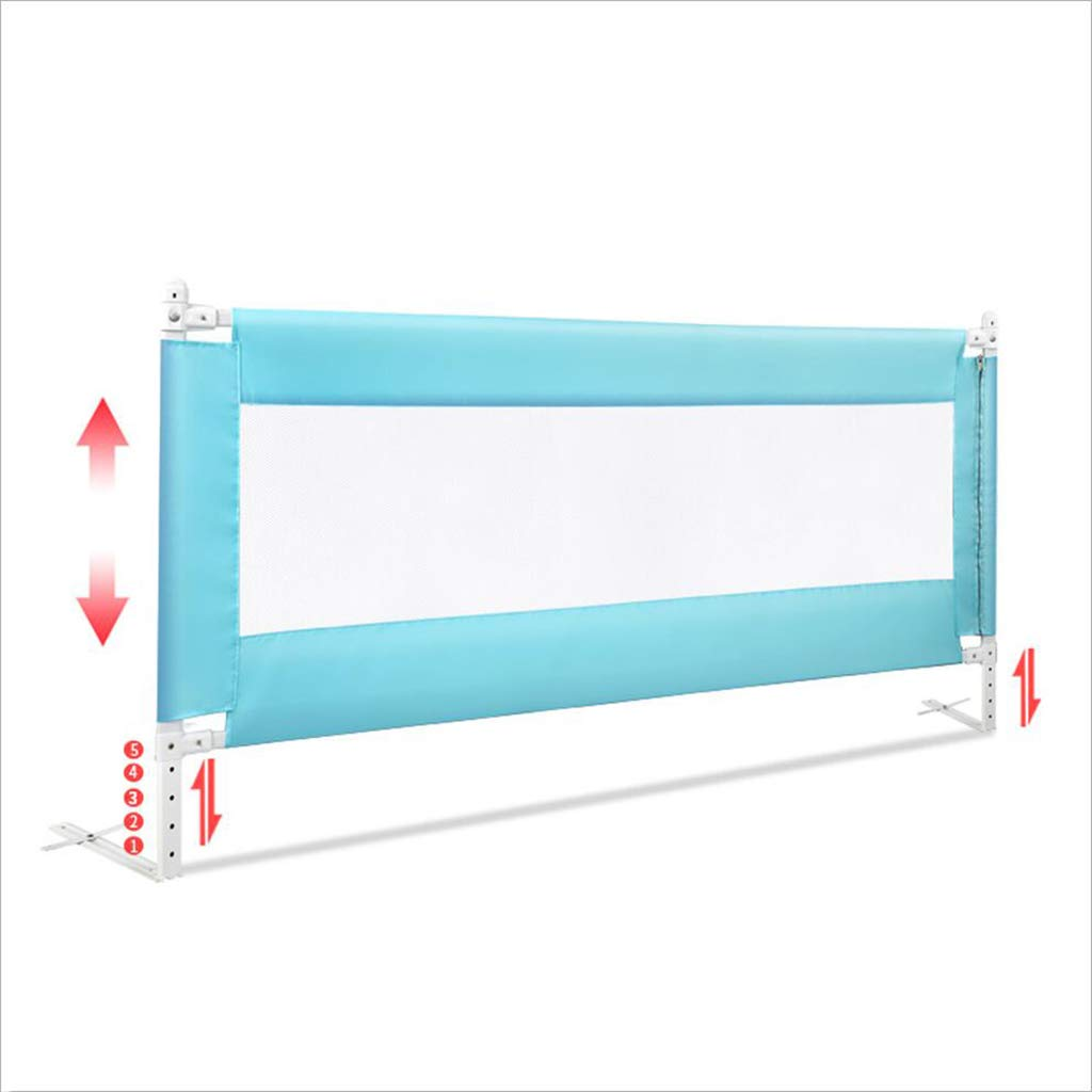 PENGJUN ベッドガードレールの子供のドロップ保護フェンスのベッドのバッフル1.5M1.8M2M (色 : 青, サイズ さいず : 2M) 2M 青 B07H9Z4D1B
