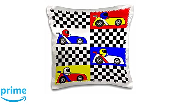 Amazon.com: 3dRose Boy Stuff Blue Red Yellow Racecars ...