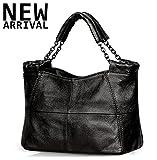 Jack&Chris Splicing Satchel Crossbody Bags for Women Leather Top Handle ...