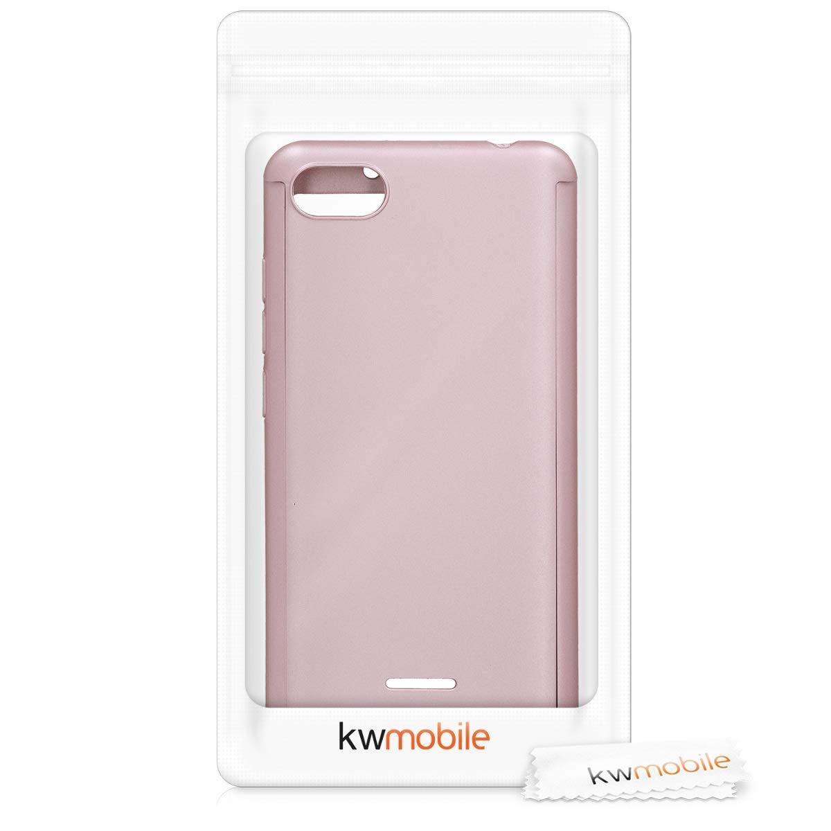 /Étui Double avec Protection /écran Coque pour Xiaomi Redmi 6A Or Rose m/étallique kwmobile Coque Xiaomi Redmi 6A