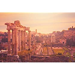 The Roman Forum at Dusk Rome Italy Photo Art Print Poster 18x12