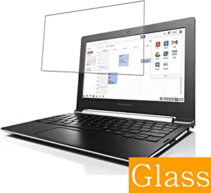 """Synvy Tempered Glass Screen Protector for Lenovo CHROMEBOOK N20 / N20P 11.6"""" Visible Area Protective Screen Film Protectors 9H Anti-Scratch Bubble Free"""