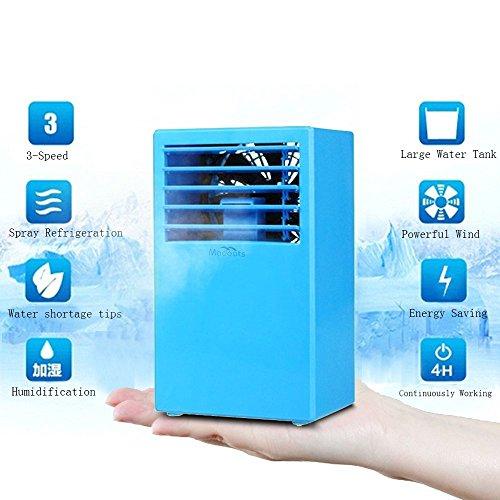 Portable Air Circulators : Portable air conditioner madoats small desktop fan quiet