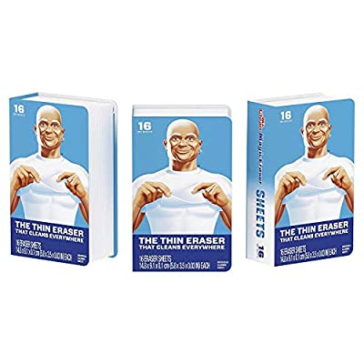 Mr. Clean Magic Eraser Cleaning Sheets, 3 Packs of 16 Sheets, 95 Count