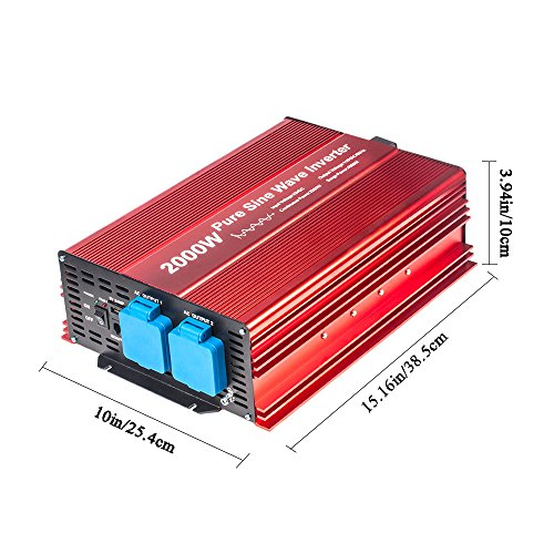 fit4less-2000w-pure-sine-wave-inverter-12v-to-120v-ac-with-2-ac-outlets-ip54-etl-approved-socketsdc5v-2-amp-usb-output-wire-remote-kit-and-ofc-battery-cablesinput-terminals-fixing-wrench