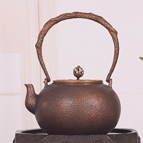 Cracked Gold Ice Sets (MYMGG 1.2L Japanese Copper Pot Ice Crack teapot Pure Copper Boiled Water Handmade Tea Set)