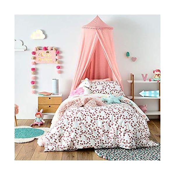 ZXYSR Baldacchino da Letto Principessa per Bambini Zanzariera Cupola Rotonda Decorazione della Camera Tenda da Gioco… 6 spesavip