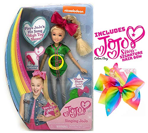 Ropeastar JoJo Siwa Doll Play Set with JoJo Siwa Signature Hair Bow for Girls (Singing Doll: High Top Shoes)]()
