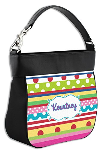 Ribbons Genuine Front Back Leather w Purse Hobo Trim Personalized amp; xOSWv6x7wq