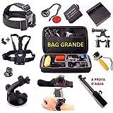 Acessórios para Gopro Hero 5 Hero 6 Hero 7 Black Carregador Mala Bateria Pau de selfie Carregador Guidao Ventosa J hook (12 itens)