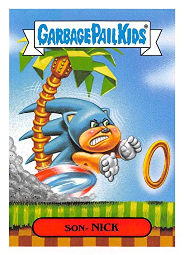 2019 Topps Garbage Pail Kids We Hate the '90s Video Games Sticker A-Names Non-Sport #2 SON- NICK Collectible Trading Card Sticker (Sonic The Hedgehog