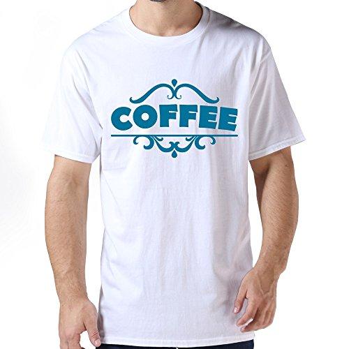 Gentleman Retro Slim Fit Coffee T-shirt Size XXL Color White