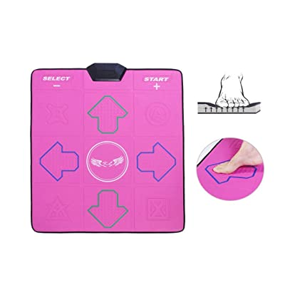 Dance mat Quality Household Single Wireless, Computer TV Dual-use Interface Dance Blanket Somatosensory Game Running Weight Loss Massage -2020 (Color : Pink Massage Blanket, Size : 13mm): Home & Kitchen