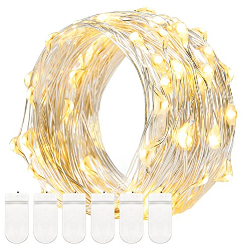 String-Lights-Decornova-8-Set-of-Micro-30-LEDs-Super-Bright-Color-Wire-Rope-Lights-Battery-Operated-on-5-Feet-Long-Silver-Color-Ultra-Thin-String-Silver-Wire-for-Home-Bedroom-Party-Tree-Warm-White