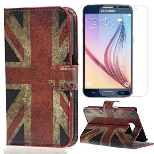49 opinioni per Semoss 2 in 1 Zubehörsets für Samsung Galaxy S6 Edge Retro UK England Flagge