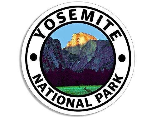 Round YOSEMITE National Park Sticker (hike travel rv) American Vinyl