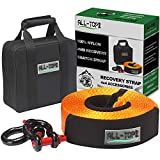 Search : ALL-TOP Nylon Heavy Duty Tow Strap Recovery Strap Kit : 3 inch x 30 ft (32.000 lbs) 100% Nylon and 22% Elongation Snatch Strap + 3/4 Heavy Duty D Ring Shackles (2pcs) + Storage Bag