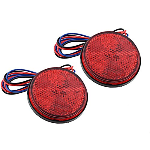 2-x-Car-Red-Round-Brake-Stop-Tail-Rear-Light-Lamp-Bulb-High-Power