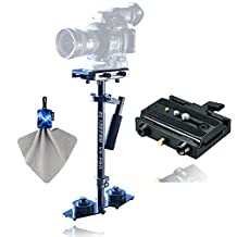 Glidecam XR-PRO Handheld Stabilizer With Manfrotto Rapid Connect Adapter with Sliding Mounting Plate + Spudz Microfiber Cleaning Cloth with Pouch Blue Lightning