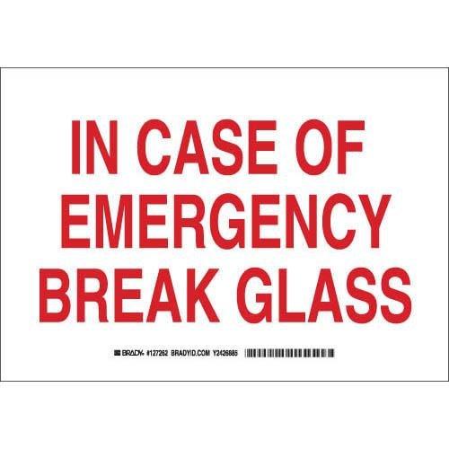 (Brady 127261 Fire Safety Sign, Legend