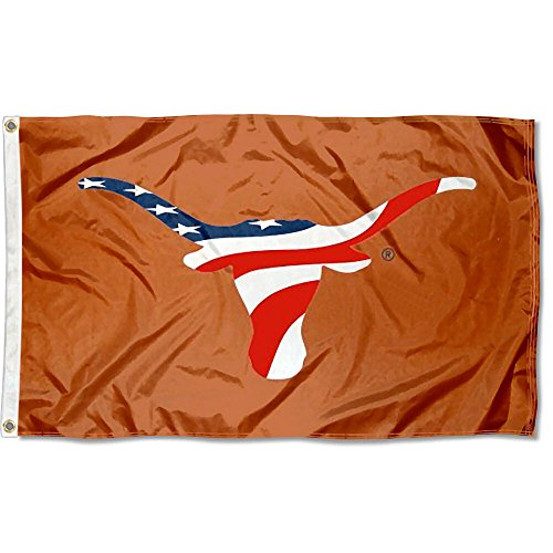 Texas UT Longhorns USA Flag Patriotic College Flag For Sale