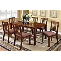 247SHOPATHOME Idf-3128T-7PK Dining-Room-Sets, Brown