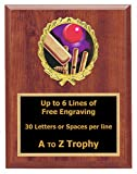 Cricket Plaque Awards 7x9 Wood Sports Trophy Tournament Trophies Free Engraving