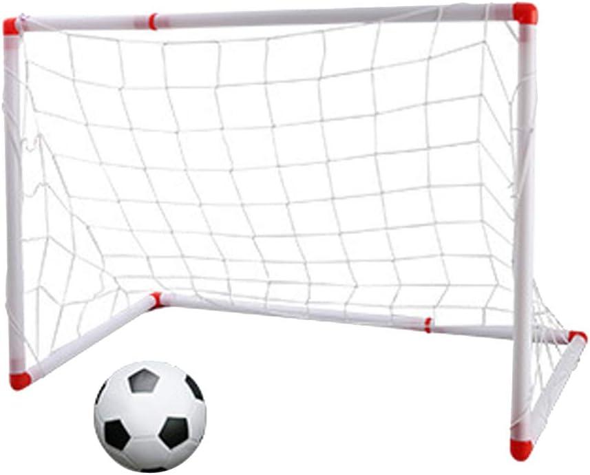B Blesiya Puerta de Fútbol Portátil Infantil ocn Balón Hinchable Juguete de Entrenamiento de Deporte Durable - 86cm