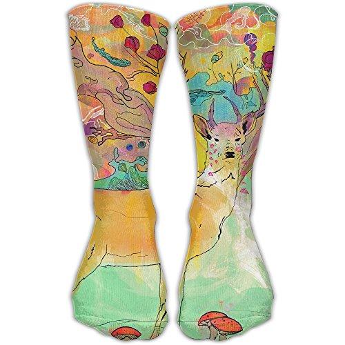 YUANSHAN Socks Art Deer Painting Women & Men