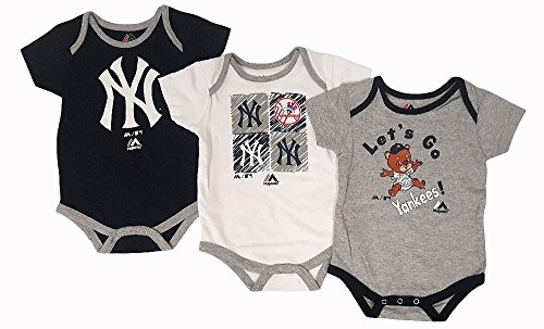 - New York Yankees Baby/Infant Go Team 3 Piece Creeper Set 24 Months
