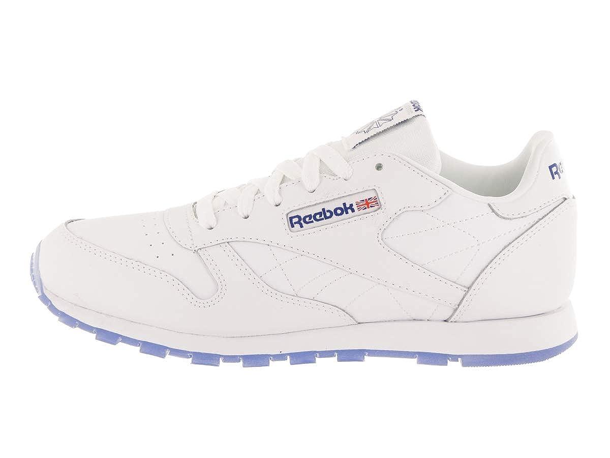 8fc90465207c22 Amazon.com  Reebok Kid s Classic Leather Ice Boys Fashion Sneakers White Reebok  Royal Ice 7 Medium US Big Kid  Shoes