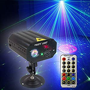 Flashandfocus.com 51HTLMngK8L._SS300_ Party Lights Dj Disco Lights, Strobe Stage Light Sound Activated Multiple Patterns Projector with Remote Control for…