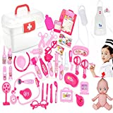 SunRise 26 PCS Set of Pretend Kitchen Food Playset for Kids and 21 PCS Makeup for Girls Pretend...