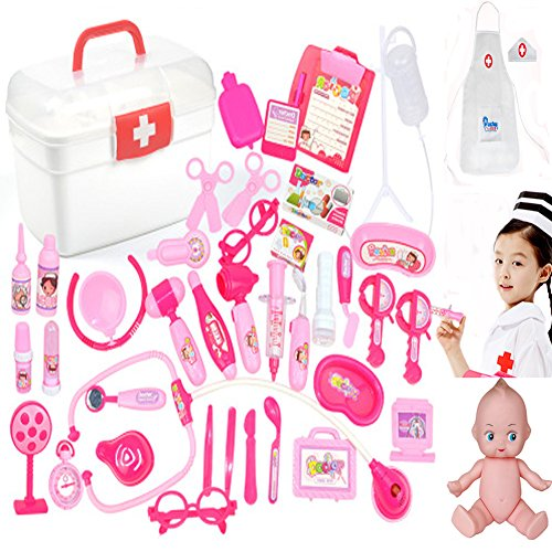 Doctor Nurse Medical Kit Toys Set , Pretend and Play Set for Kids 41 PCS Toys Set Love Your Children Give Them The Best