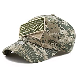 The Hat Depot Low Profile Tactical Operator with USA Flag Patch Buckle Cap